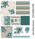 Pretty Floral Seamless Vector...