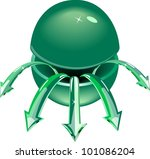 the cut green sphere with... | Shutterstock .eps vector #101086204