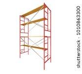 scaffolding metal construction... | Shutterstock . vector #1010863300