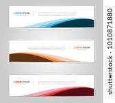 modern banner template design ... | Shutterstock .eps vector #1010871880