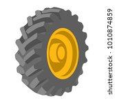 black tyre yellow wheel object... | Shutterstock .eps vector #1010874859