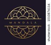mandala   vector logo icon...   Shutterstock .eps vector #1010876116