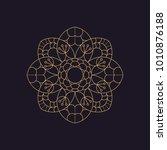 mandala   vector logo icon... | Shutterstock .eps vector #1010876188