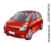 illustration of red car | Shutterstock . vector #1010876416