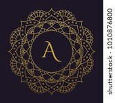 mandala   vector logo icon... | Shutterstock .eps vector #1010876800