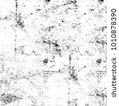 grunge black and white pattern. ... | Shutterstock . vector #1010878390