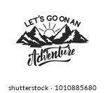 mountain camp emblem template.... | Shutterstock .eps vector #1010885680