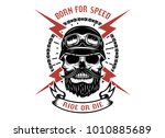 born for speed  ride or die.... | Shutterstock .eps vector #1010885689