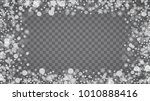 blizzard snowflakes on... | Shutterstock .eps vector #1010888416