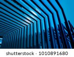 abstract metal roof. steel roof.... | Shutterstock . vector #1010891680