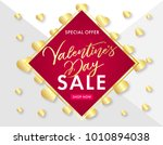 valentines day lettering and... | Shutterstock .eps vector #1010894038