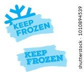 set of blue keep frozen product ... | Shutterstock .eps vector #1010894539