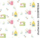 hand drawn vector pattern hobby....   Shutterstock .eps vector #1010898364