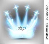 stylish magical spotlight...   Shutterstock .eps vector #101090014
