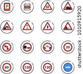 line vector icon set   parking...   Shutterstock .eps vector #1010915920