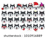 a large set of heads of little... | Shutterstock .eps vector #1010916889