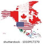 vector illustration of north...   Shutterstock .eps vector #1010917270
