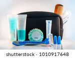 essential travel kit | Shutterstock . vector #1010917648