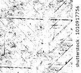 grunge black and white pattern. ...   Shutterstock . vector #1010917756