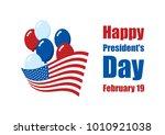 happy presidents' day vector.... | Shutterstock .eps vector #1010921038