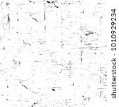 grunge black and white pattern. ... | Shutterstock . vector #1010929234