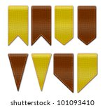bookmarks   set of ribbon icons ... | Shutterstock .eps vector #101093410