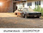 Old Abandoned Rusty Car On A...