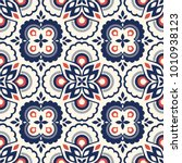 seamless retro pattern with... | Shutterstock .eps vector #1010938123