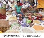 merchants sell nepalese... | Shutterstock . vector #1010938660