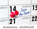 wall calendar with a red pin  ... | Shutterstock . vector #1010941243
