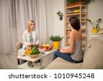 cozy office of dietitian.... | Shutterstock . vector #1010945248