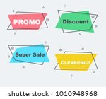 flat linear promotion ribbon... | Shutterstock .eps vector #1010948968