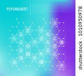 psychologist concept in... | Shutterstock .eps vector #1010950978