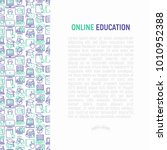 online education concept with... | Shutterstock .eps vector #1010952388