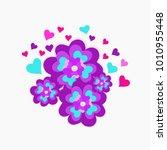 vector illustration valentines ... | Shutterstock .eps vector #1010955448