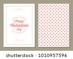 happy valentines day greeting... | Shutterstock .eps vector #1010957596