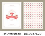 happy valentines day greeting... | Shutterstock .eps vector #1010957620