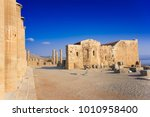 columns of portico and church... | Shutterstock . vector #1010958400