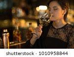 young beautiful elegant woman...   Shutterstock . vector #1010958844
