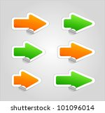 set of arrow stickers . | Shutterstock . vector #101096014