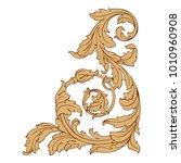 vintage baroque ornament retro...   Shutterstock .eps vector #1010960908