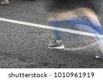 people running in marathon on... | Shutterstock . vector #1010961919
