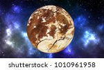 planet in outer space... | Shutterstock . vector #1010961958