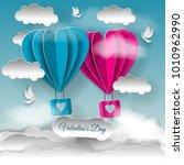 valentine's day illustration.... | Shutterstock . vector #1010962990