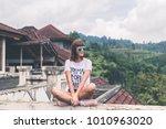 beautiful young woman in... | Shutterstock . vector #1010963020