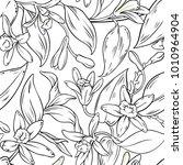 vanilla seamless pattern | Shutterstock .eps vector #1010964904