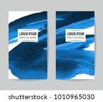 set of vector business card... | Shutterstock .eps vector #1010965030