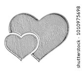 Rough Stone Textured Heart Wit...