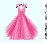 pink birthday  party dress with ...