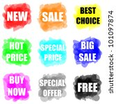 set of colorful paint splat for ... | Shutterstock . vector #101097874